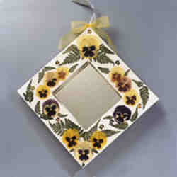 Pressed Flower Mirror