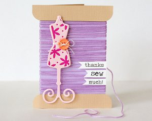 Thank You Sew Much Card