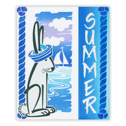Bunny Summer Card