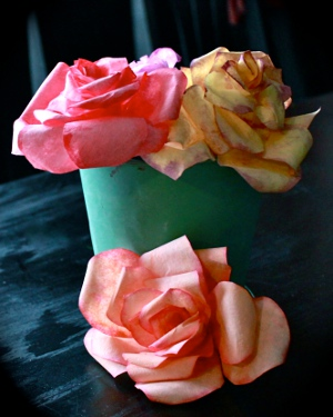 coffee filter roses
