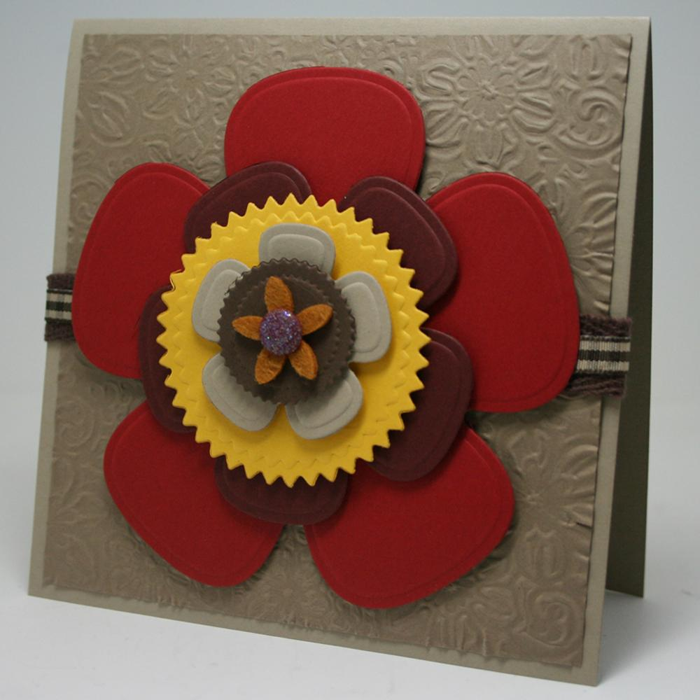 Simple flowers greeting card favecrafts handmade paper greeting card kristyandbryce Choice Image