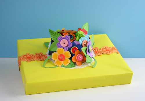 bouquet gift wrap