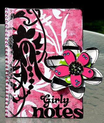 Girly Notes Pink Notebook