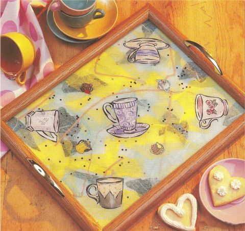 Reverse Collage Tea Tray