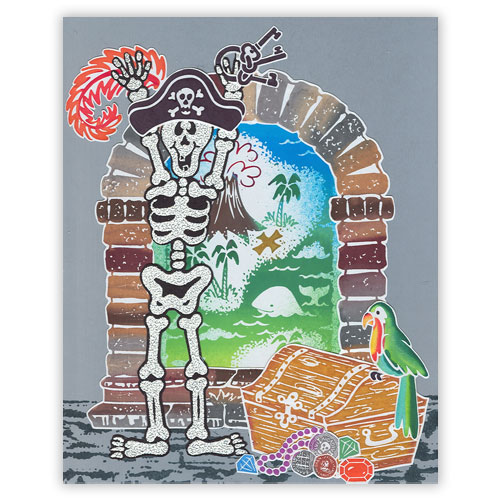 Pirate Stamp Card