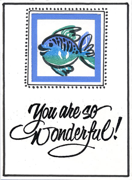 Trifold Fish Stamp Card