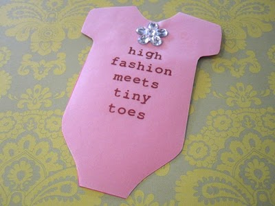 High Fashion Baby Shower Invitation