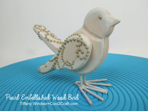 Pearls on Wood Bird