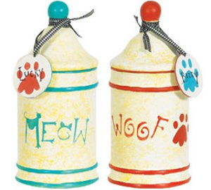 Meow and Woof Treat Canisters