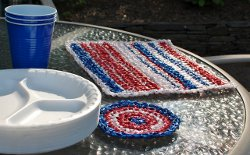 Plarn Placemats and Coasters