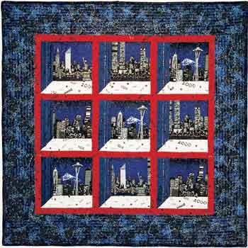 Christmas Attic Window Quilt Pattern.Millennium Cityscapes Attic Windows Quilt Favecrafts Com