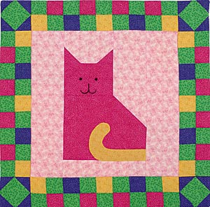 Quilted Cat Wall Hanging