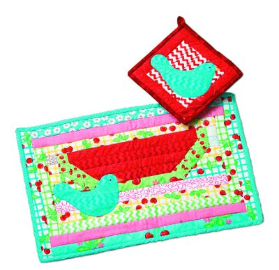 Watermelon Quilt Placemat
