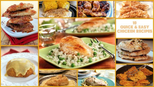 10 Quick and Easy Chicken Recipes