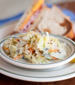 12 Minute Hot Cabbage Slaw