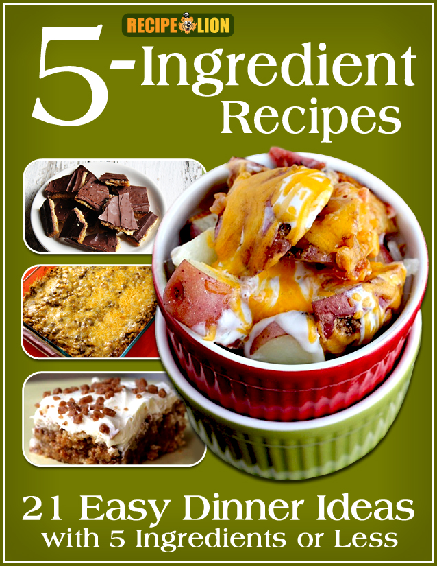 5-Ingredient Recipes Free eCookbook