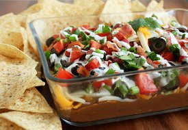 9 Layer Bacon Bean Dip