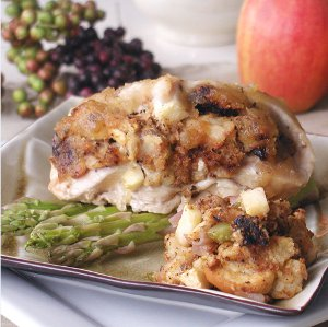 Apple Fig Stuffed Chicken