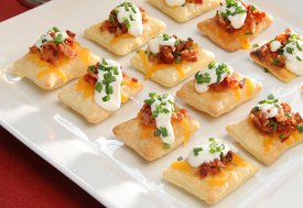 Bacon and Cheddar Puff Pastry Crisps