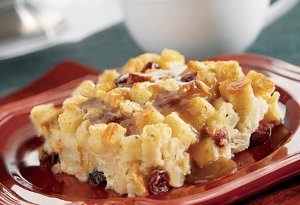 Cranberry Apple Bread Pudding