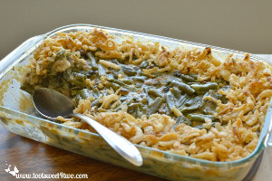 Crunchy and Creamy Green Bean Casserole