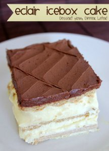 Lazy Cook's Eclair Icebox Cake