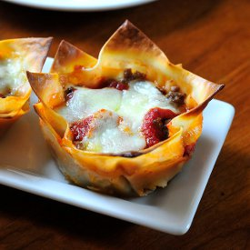 Muffin Tin Mini Lasagnas