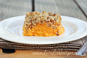 Pecan Crusted Sweet Potatoes