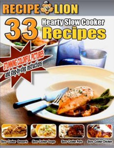 33 Hearty Slow Cooker Recipes free eCookbook