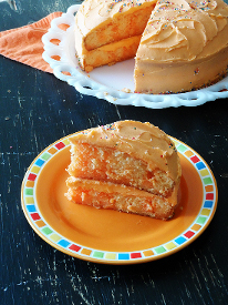 Triple Orange Poke Cake
