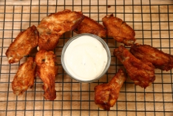 Buffalo Chicken Wings with Homemade Blue Cheese Dressing