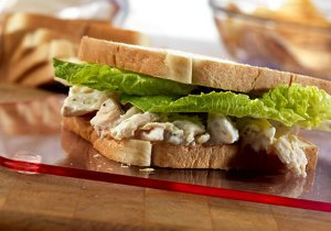 Caesar Chicken Salad Sandwiches