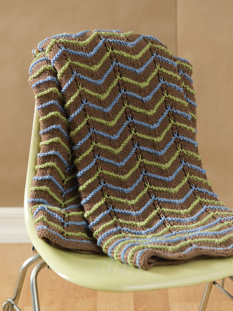 Earth Tone Knit Afghan