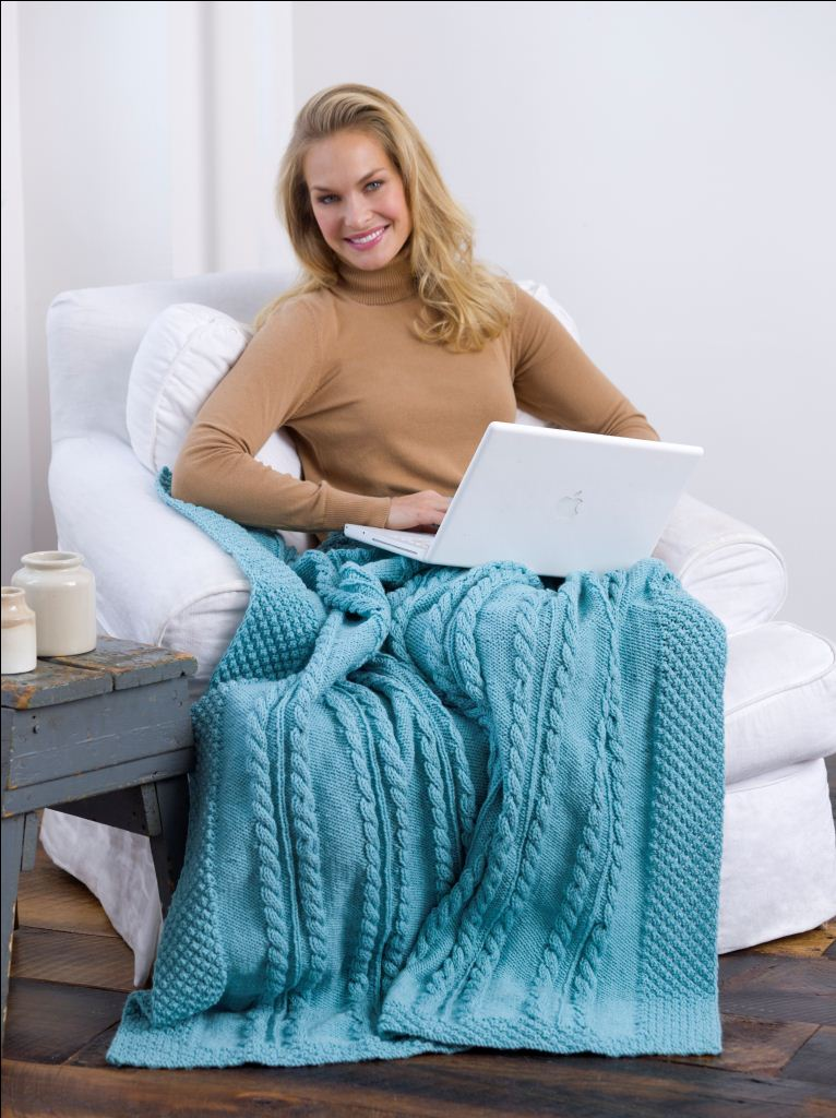 Bramble Cable Knit Afghan