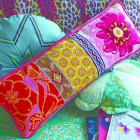 floral path bolster