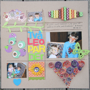 Two Leopards Scrapbook Layout