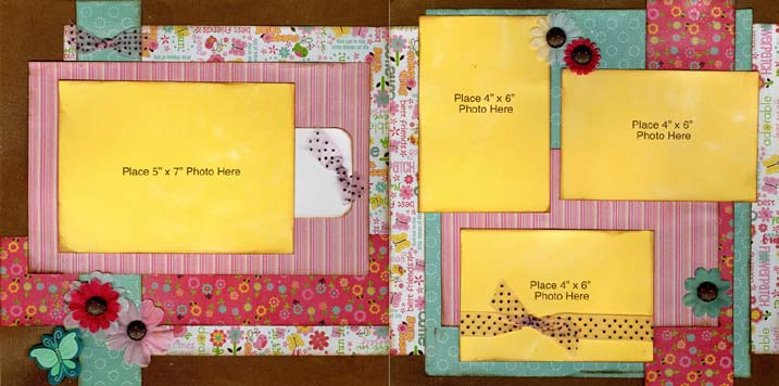 Double Page Lucy Scrapbook Layout From Imaginisce Favecrafts