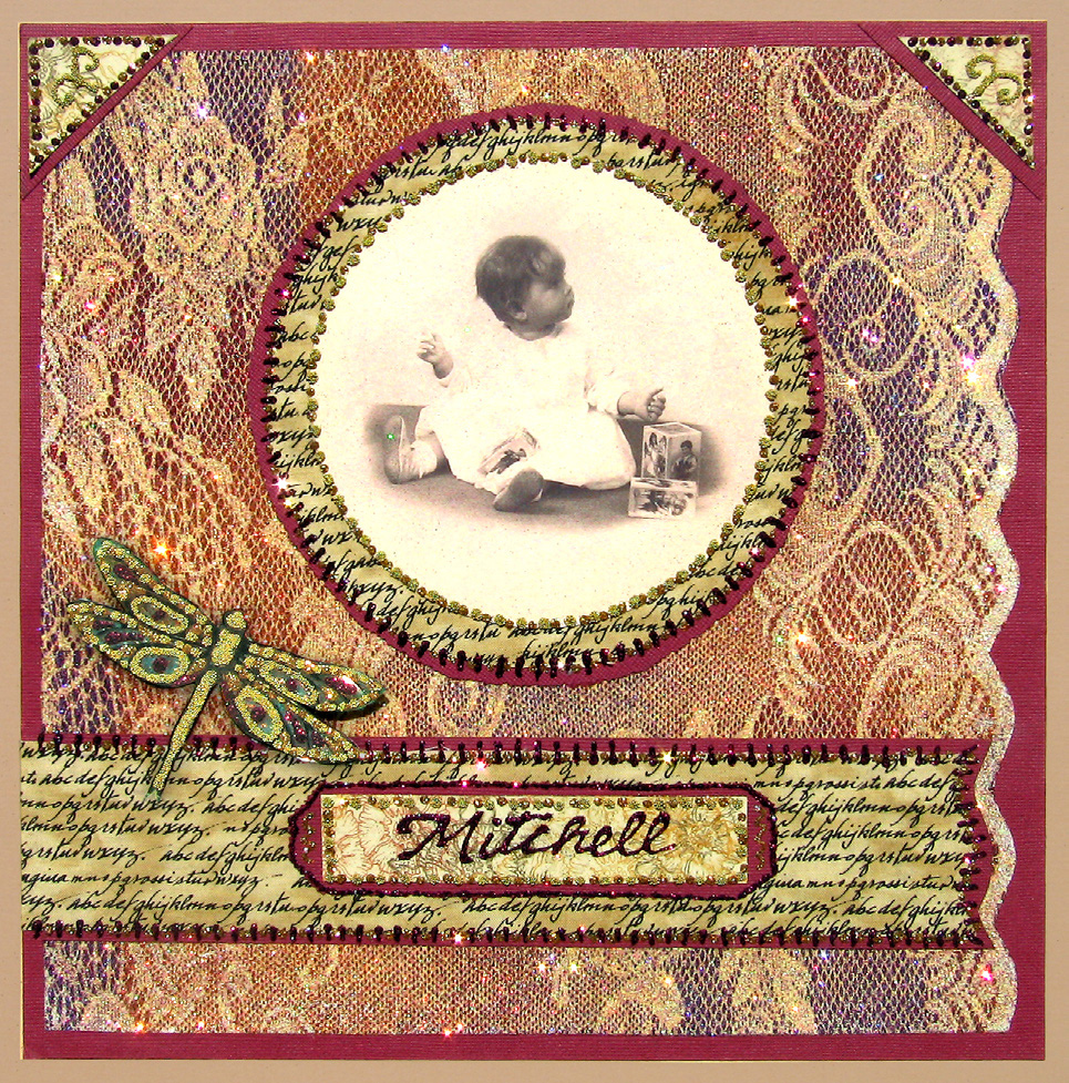 Glitter Lace Scrapbook Layout