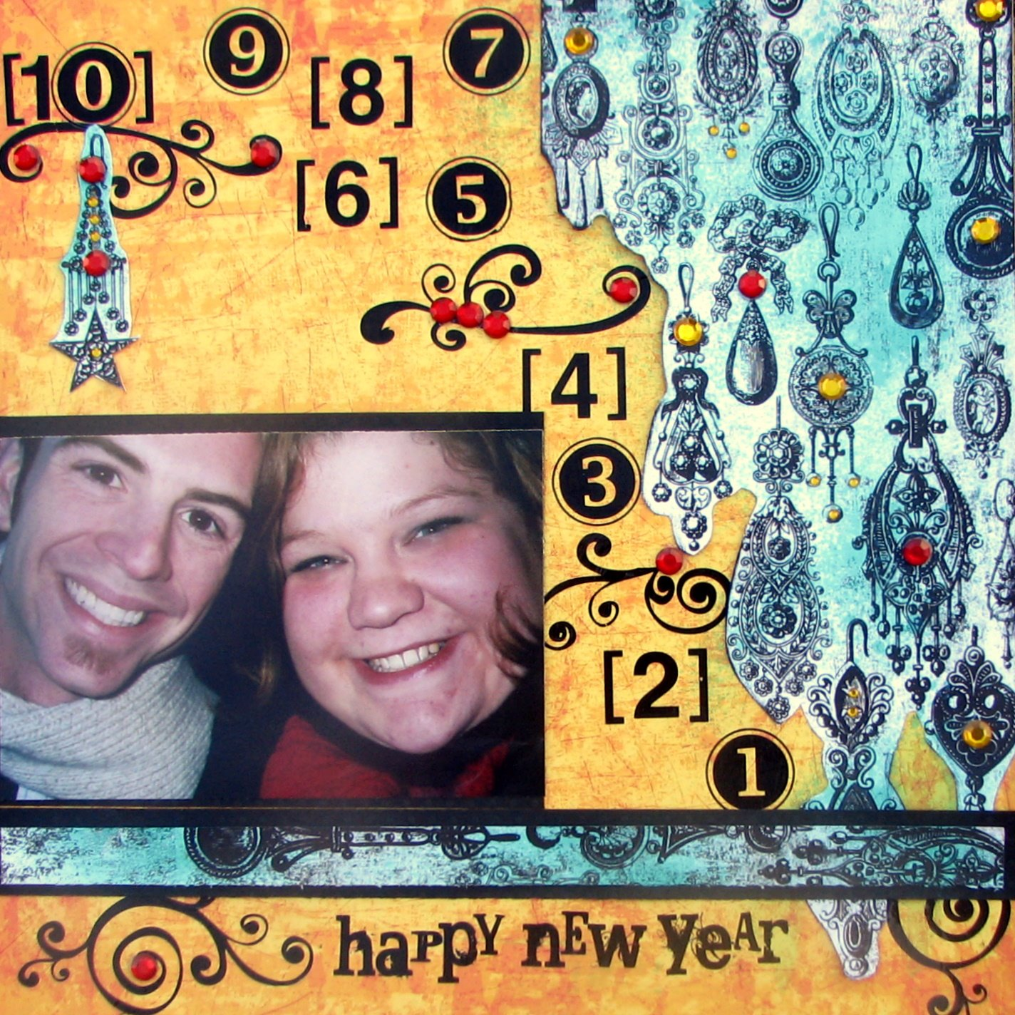Happy New Year Scrapbook Layout