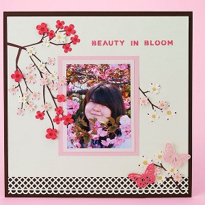 scrapbooking craft ideas japanese cherry blossom layout favecrafts 2887