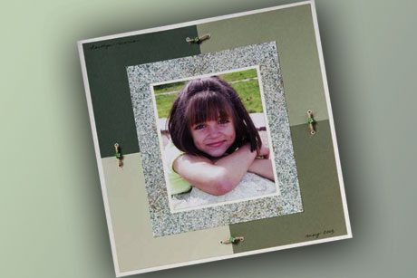Portrait Page Scrapbook Layout