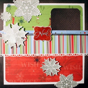 Noel Scrapbook Layout