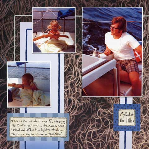 Sailing Trip Scrabook Layouts