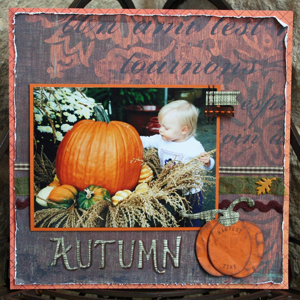 Autumn Harvest Scrapbook Layout