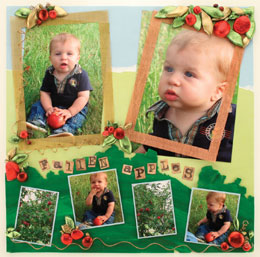 Fall Apples Scrapbook Page