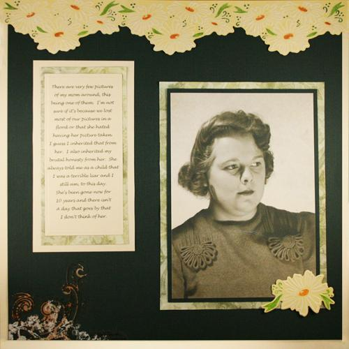 mom scrapbook layout