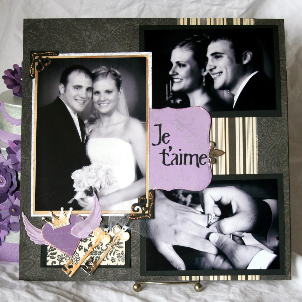 Free Wedding Scrapbook Layout