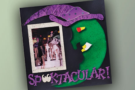 Halloween Scrapbook Layout