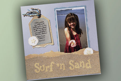 Surf and Sand Scrapbook Layout