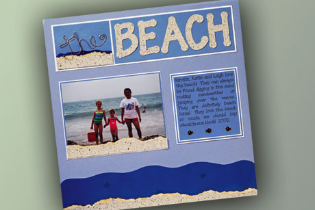 The Beach Scrapbook Layout